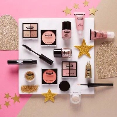 Studio London Festive As Beauty Advent Calendar Makeup Gift Woman Eyes and Lips