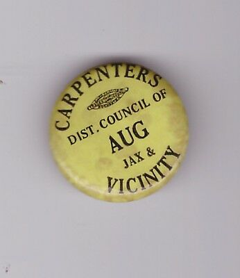 Carpenters dues labor union pin no year Jax & vic (jacksonville fl)
