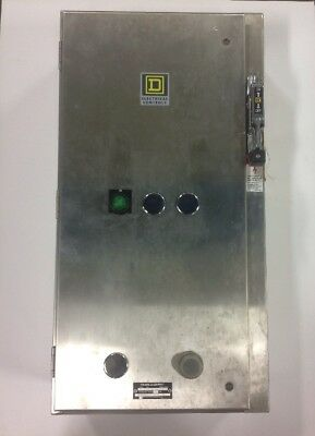 Square D 8539, SDW44S8 Combination Starter, 100A Disconnect, Series H, SS. L 66B
