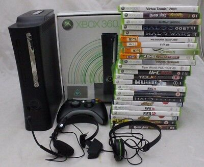 Xbox Elite Console 120gb + 23 Games + Headsets + Controllers -215
