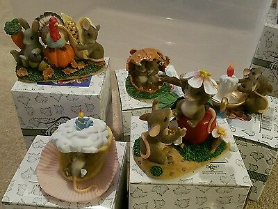 Lot of 5 charming tails with boxes