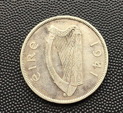 1941 Ireland halfcrown coin