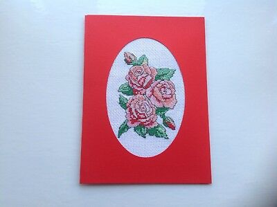 Completed Cross Stitch Large Card