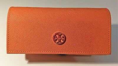 Tory Burch Sunglasses Case Orange Gold Medallion Eye Glasses