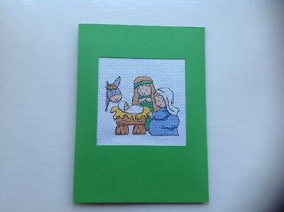 Completed Christmas Cross Stitch Large Card