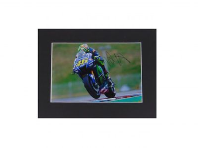 Valentino Rossi Signed Moto Gp World Champion Display *Rare* + *Coa*