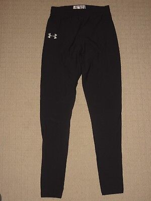 Womens Under Armour UA Compression Base Layers Leggings Pants SM Small Black