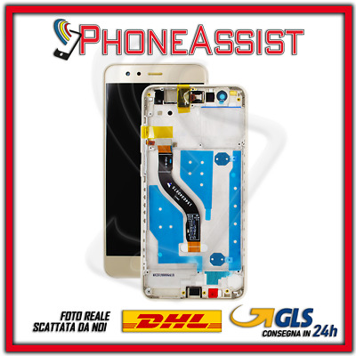 DISPLAY LCD VETRO TOUCH FRAME Huawei P10 Lite WAS-LX1 WAS-LX1A SCHERMO Oro