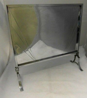 ART DECO - Fire hearth STAND MIRRORED 52x38x17cm (52cm Overall height) USED COND