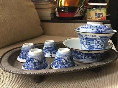 0ld Chinese teaset Porcelain.Chinese marked.Low reserve..