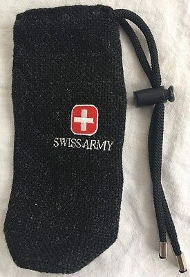 Replacement SWISS Army KNIFE Embroidered Draw String Bag/Pouch VICTORINOX