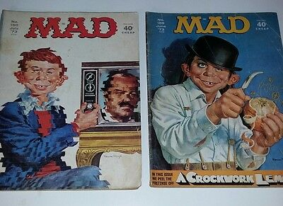 MAD MAGAZINE No. 159 160 VINTAGE 1973 Comic Book Stanley Kubrick  Fold In RARE
