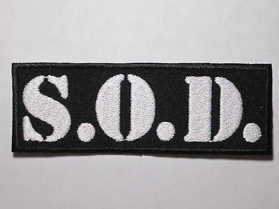 S.O.D. logo embroidered NEW patch thrash crossover metal