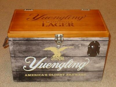 Yuengling Traditional Lager 20 L Liter Metal Cooler with Wooden Lid - New in Box