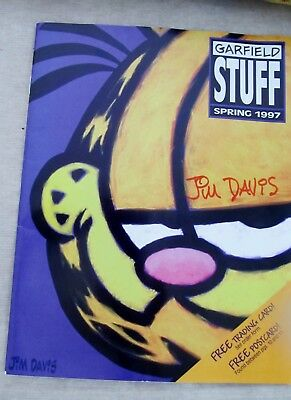 Jim Davis Autographed 1st Issue Garfield Stuff