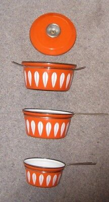 Vintage Cathrineholm Norway Pan Set Used A/F