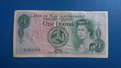 £1 OLD Isle of Man pound note, Manx, Collector's item