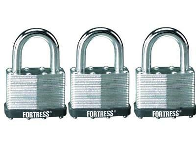 Fortress Tri-Pack Keyed Alike Padlocks, 1805TRI