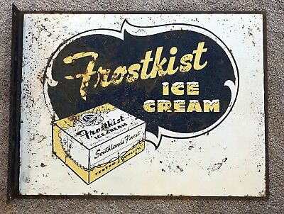 Vintage Frostkist Ice Cream Flange Sign