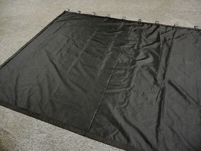 IN STOCK! - Black Stage Curtain, 8 H x 10 W, Non-FR, Black Fabric Loops on top
