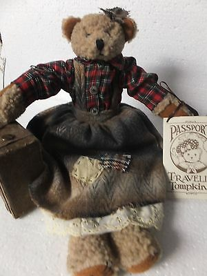 Travelin Tompkins Clara Canada Collectible Bear By Enesco 1997