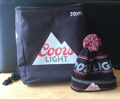 Coors Light Chiller Pack Backpack 20 Cans Beer & Toque