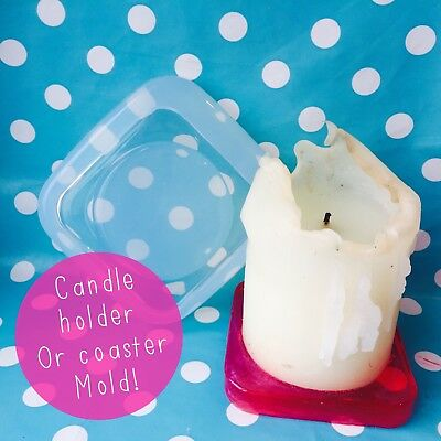 SILICONE MOLD - Coaster Candle Holder Resin Homeware Square Shape Mould