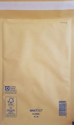 arofol bubble lined padded gold envelopes size 4 Pack of 100 (180 x 265mm)
