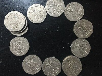 Huge lot 16x collectable Rare 20p Coin coins 6x1982, 1983,1987,1988,1989,1990etc