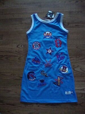 NLBM Negro League Baseball Museum Embroidered Team Logo Blue Dress size Large