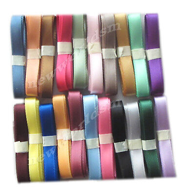 "6y 57mm 2 1/4"" Mixed Premium Single Faced Sided Satin Ribbon Eco FREE PP"