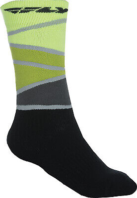 Fly Racing Mens Thick MX Sock Lime/Black Sm/Md
