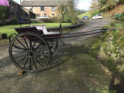 2 Wheel Pony / Horse Carriage, Cart, Gig, C Frame, Shafts to fit 13-15 hh