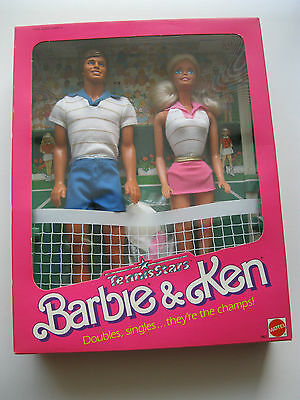 Mattel Tennis Stars Barbie & Ken Gift Set-Sealed-1988-Nrfb