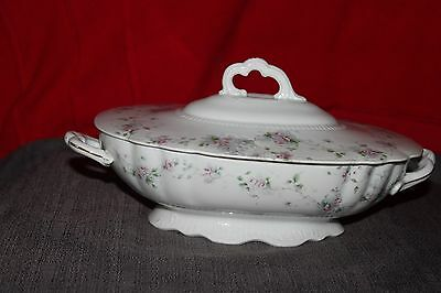 Austria Imperial Crown China Oval Covered Serving Bowl