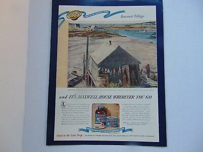 1946-MAXWELL HOUSE COFFEE Seacoast Village  -vintage print ad -897