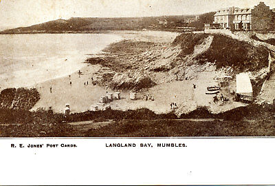 GLAMORGAN - Early Postcard of Langland Bay, Mumbles, SWANSEA