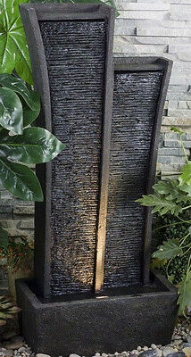 """41.50""""h Indoor/outdoor Fountain With Light Ft-1218"""