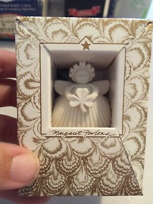 "Shamrock Ornament Retired Margaret Furlong  Porcelain Bisque 2"" Ornament"