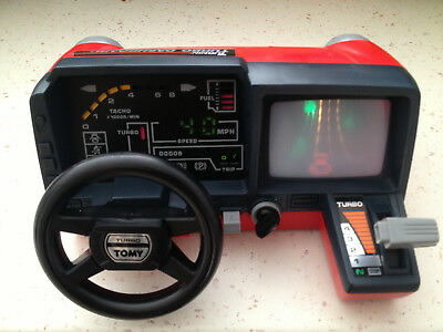 TOMY RACING COKPIT - turbo dashboard / simulateur de conduite vintage RARE 80'