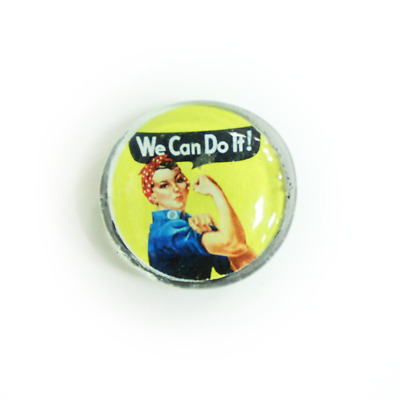 "Create Rosie the Riveter ""We Can Do It"" Glass Magnet"