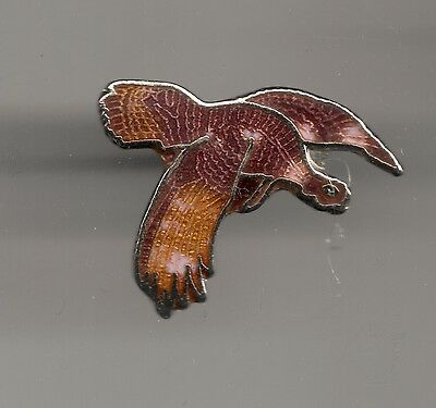 Vintage Flying Wild Turkey small old cloisonne pin