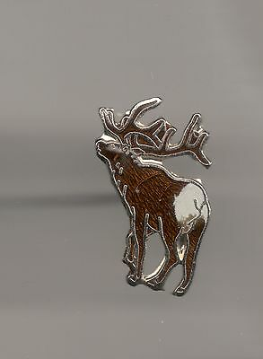 Vintage Elk from the rear small old cloisonne pin