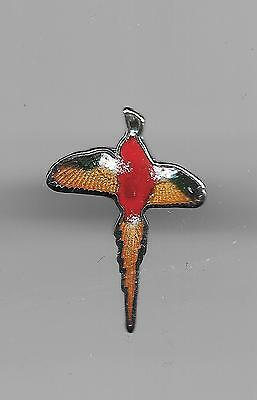 Vintage Colorful Flying Pheasant small old cloisonne pin