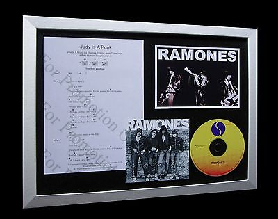 RAMONES Judy Is A Punk LTD Numbered CD FRAMED DISPLAY!!