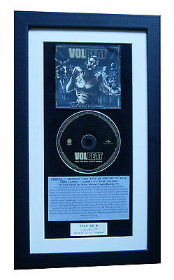 VOLBEAT Seal The Deal & Boogie CLASSIC CD Album QUALITY FRAMED+FAST GLOBAL SHIP