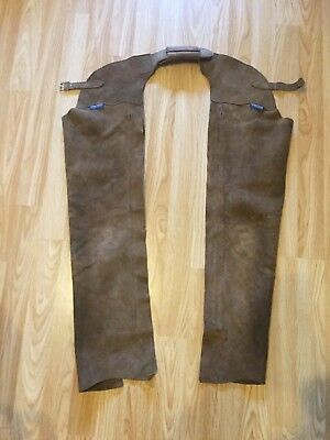 Leather chaps full brown brand new! CHILTERN Child/small adult