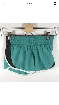 XS Women's Nike Dri-Fit Athletic Running Shorts Tempo Teal Green