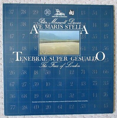 PETER MAXWELL DAVIES - Ave Maris Stella / Tenebrae Super Gesualdo - LP Record