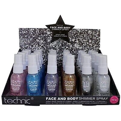 Technic Face & Body Glitter Shimmer Spray - Choose Your Shade - Sealed 30ml